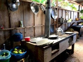 stove and kitchen