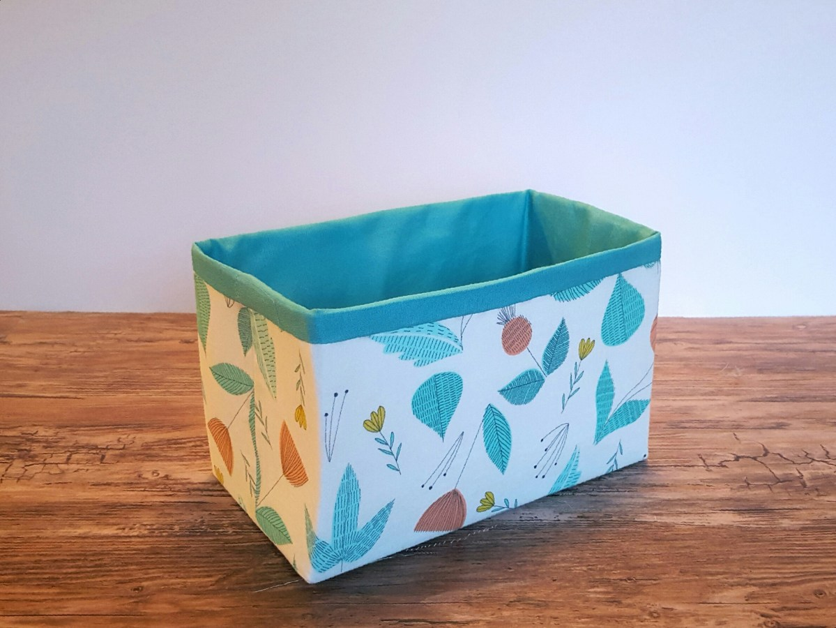Lillyella Stitchery Sturdy Fabric Basket