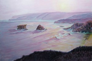 koonya back beach marine art jack woods seapainting