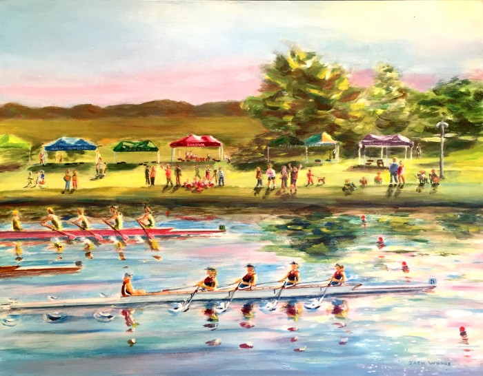 Rowing Geelong marine art seapainting jack woods korowa