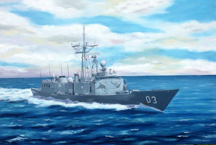 HMAS Sydney marine art jack woods seapainting