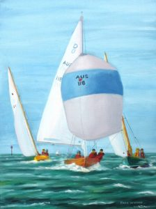 dragon sienna classic boats marine art jack woods seapainting