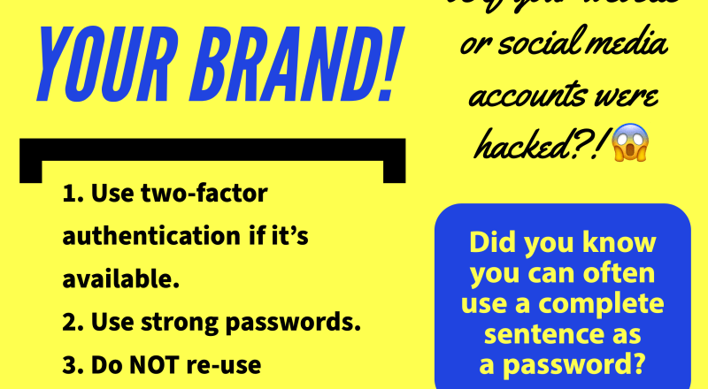 Web Tip #1 - Protect Your Brand!