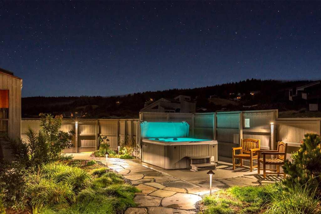 starry night vistas,Abalone Bay, Sea Ranch,Vacation Rental, hot tub, spa