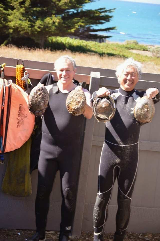 Trophy abalone diving ,abalone, diving, Sea Ranch Packing