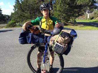 Sonoma Coast cyclist