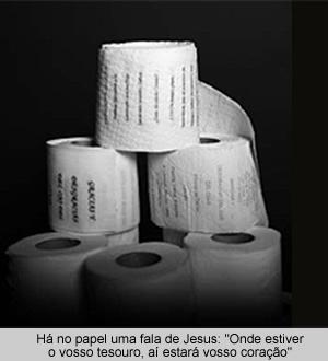 Empresa transcreve trechos bíblicos em papel higiênico