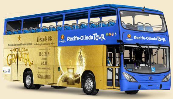 Recife e Olinda terão ônibus turístico a partir de abril de 2014