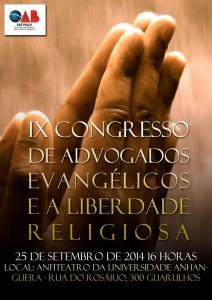 IX Congresso de Advogados Evangélicos e a Liberdade Religiosa