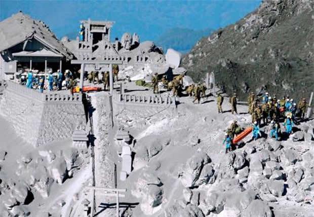 Japão: erupção do monte Ontake