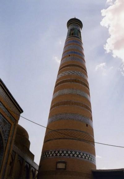 イスラーム・ホジャ・メドレセのミナレット。