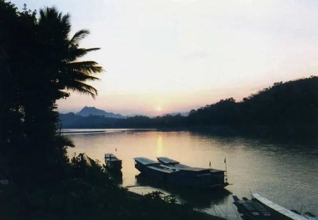ルアンパバーンの夕陽