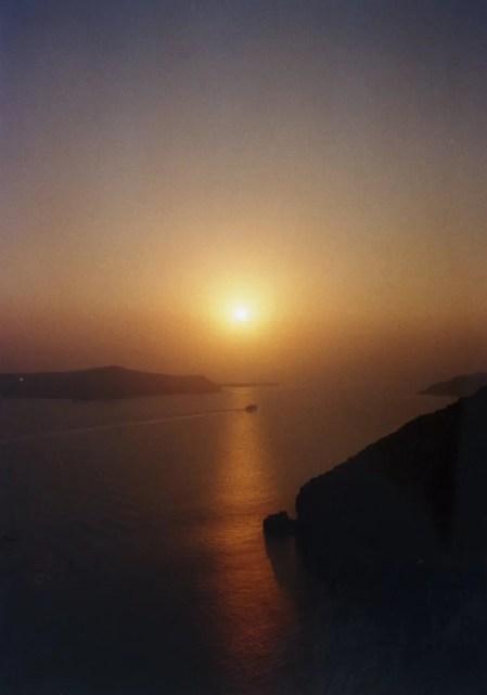 サントリーニの夕陽