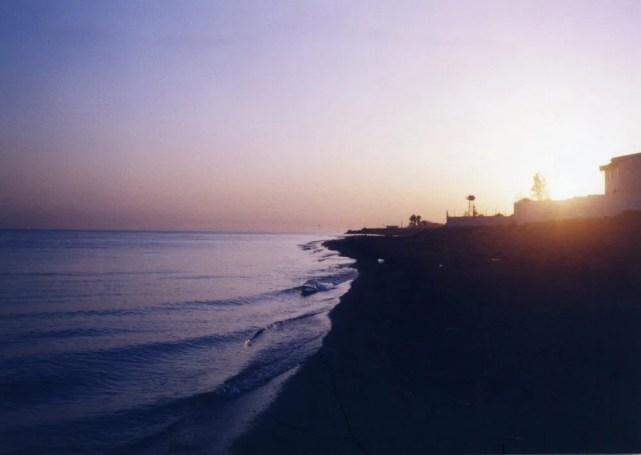 カスピ海の日の出