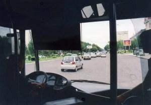 路線バスでタシケントの街を移動