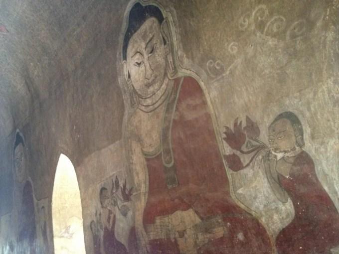 スラマニ寺院の仏画 【バガン遺跡】【ミャンマー(バガン)】