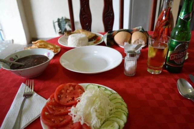 トリニダーのカサ(民宿)のディナー 【キューバ Cuba】