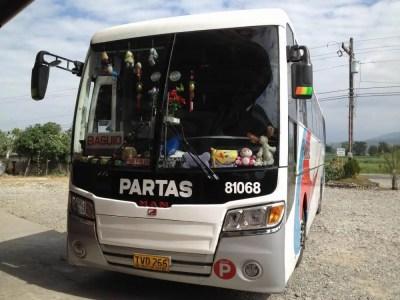 フィリピン、ビガン。バギオへ向かうバス