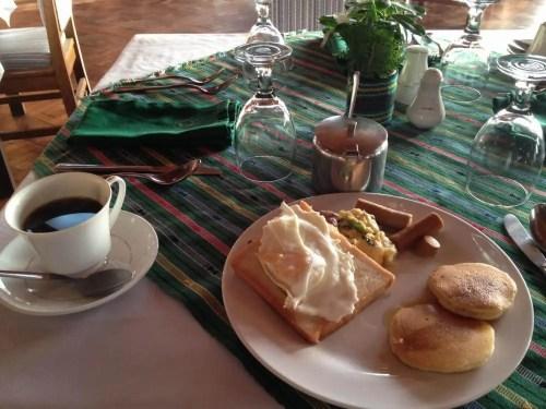 フィリピン、バナウェ。バナウェホテルの朝食