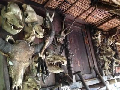 フィリピン、バナウェ。イフガオ族の魔除け、バナウェビューポイント 【世界遺産】