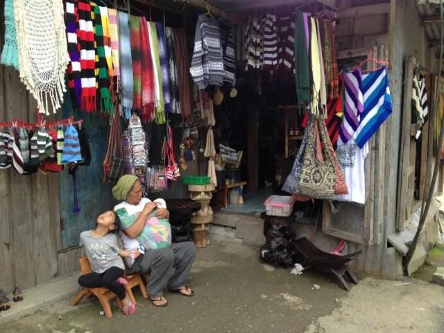 フィリピン、バナウェ。土産物屋、バナウェビューポイント 【世界遺産】
