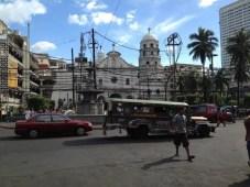 フィリピン、マニラ。キアポ地区の風景