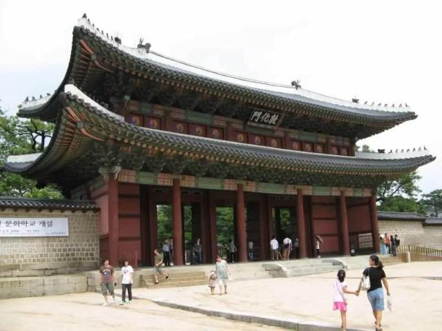 昌徳宮の正門、敦化門 【韓国】
