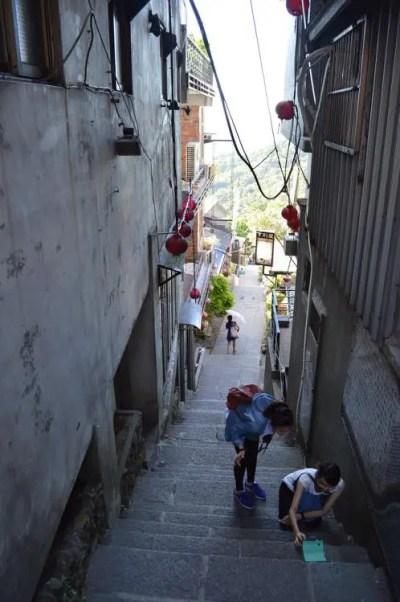 台湾、九份(九分)の風景(豎崎路)【台湾】