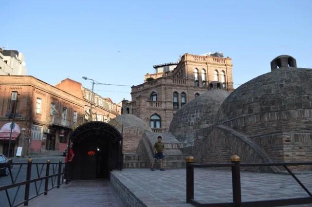 トビリシ旧市街、ハマムが並ぶ界隈【ジョージア(グルジア)Georgia:საქართველო】