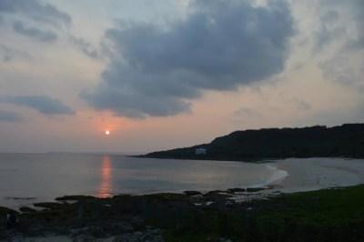 砂島の夕陽【台湾3(最南端)】