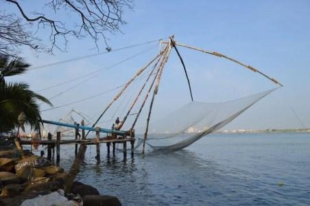 チャイニーズ・フィッシングネット フォートコーチン(南インド・ケララ州2)
