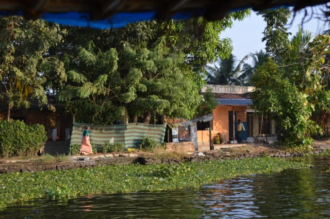 ハウスボート1(南インド・ケララ州)