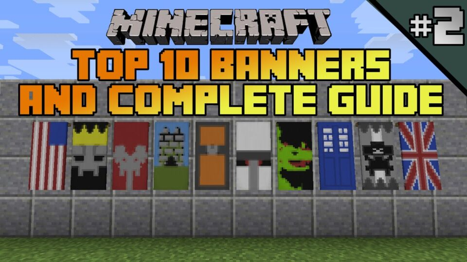 Minecraft Top 10 Banner Designs Ep 2 With Tutorial Excitingads