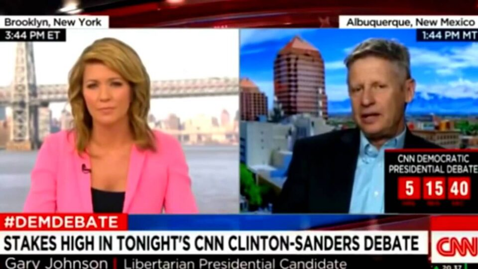 Gary Johnson on CNN (2016) - YouTube