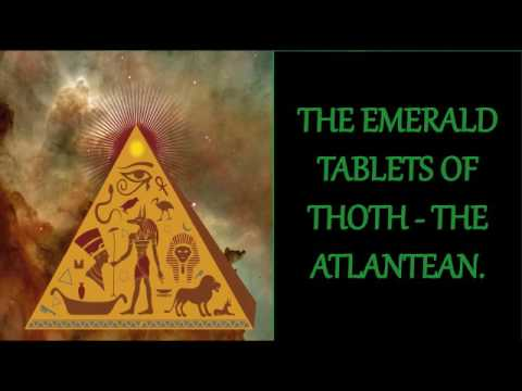 THE EMERALD TABLETS OF THOTH - THE ATLANTEAN. (FULL AUDIOBOOK) - YouTube