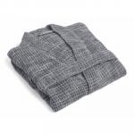 Large Turkish Cotton Waffle Robe in Grey | Parachute