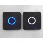 Square Touch Doorbell Button by Luxello