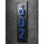 Luxello Backplate 5 Vertical Number Panel Sign Numbers