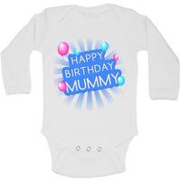 Happy Birthday Mummy - Long Sleeve Vests for Boys