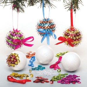 Sequin Bauble Kits (Pack of 3)