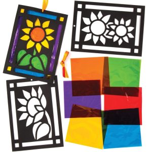 Sunflower Stained Glass Decoration Kits (Pack of 6)