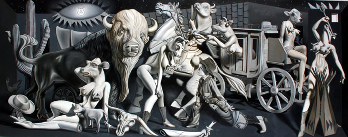 RON ENGLISH - Cowglirl Guernica