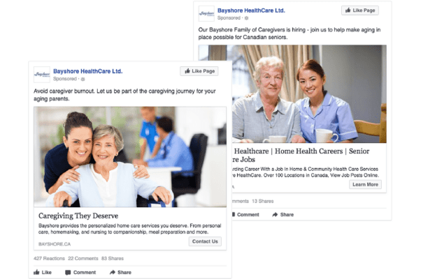 Bayshore Healthcare Ads - By Search & Gather