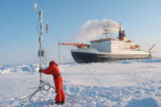 fieldwork on sea ice