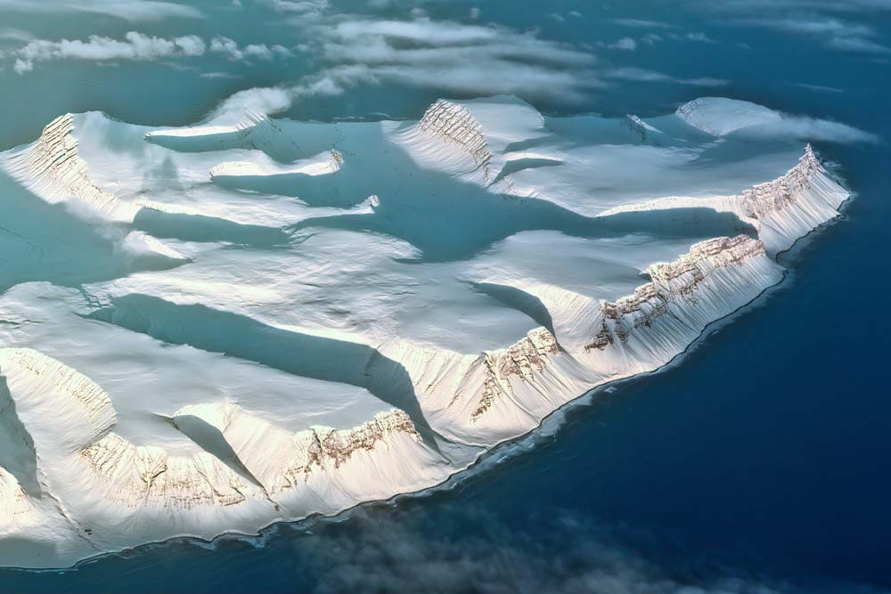 aerial image of greenland