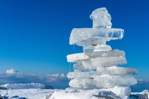 cairn made of ice