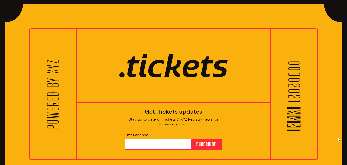XYZ acquires .Tickets domain