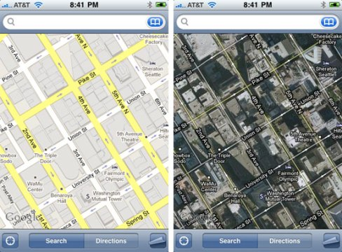 Irony  You Need A Map To Find Google Street View On The iPhone     maps 2