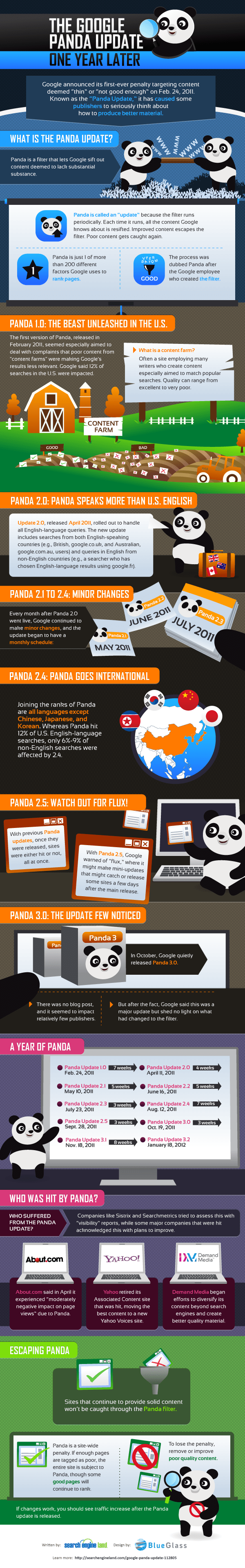 The Google Panda Update, One Year Later