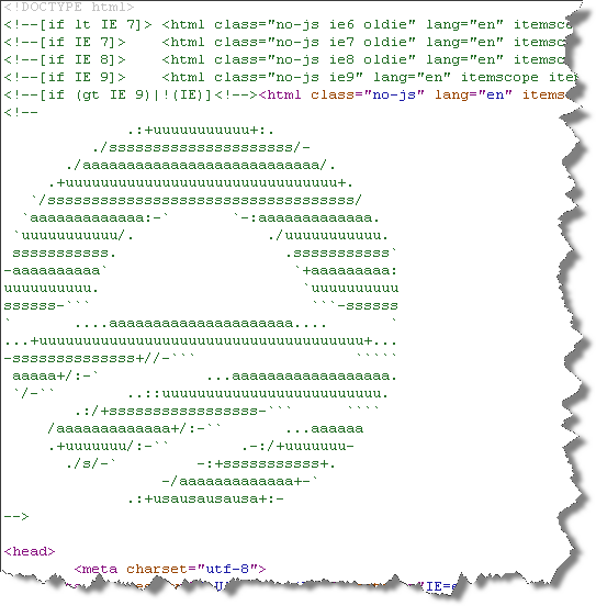 Screenshot - Evidence Of The Absolute Geekery Of Team Obama: ASCII Art Logo Eater Egg